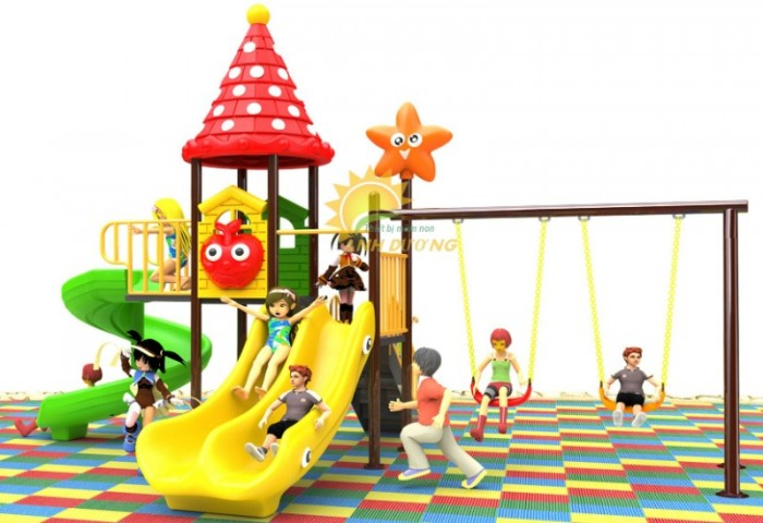 Các bộ liên hoàn cầu trượt trẻ em cho trường mầm non, sân chơi, công viên giá cực SỐC16