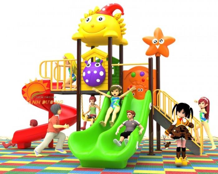 Các bộ liên hoàn cầu trượt trẻ em cho trường mầm non, sân chơi, công viên giá cực SỐC20