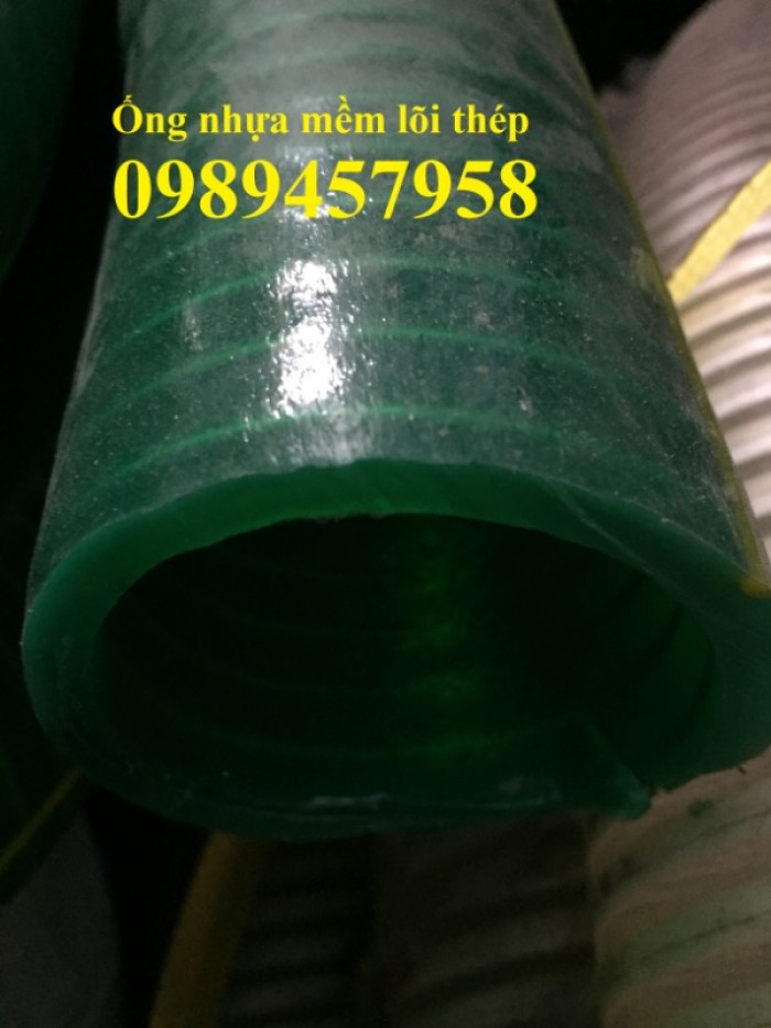 Ống thông khí, ống hút bụi gân nhựa, ống nhựa mềm lõi thép phi 2003