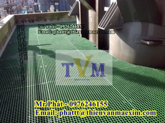 Tấm sàn frp grating - sàn composite kháng hóa chất, chống cháy 0976246155