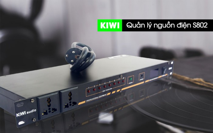Quản lý nguồn điện Kiwi S802 Bộ quản lý nguồn KIWI S802 với chức năng ổn định nguồn điện cho các thiết bị âm thanh, bật/ tắt điện lần lượt theo thứ tự cho các thiết bị đảm có độ bền và an toàn tối đa đến 10  máy.1