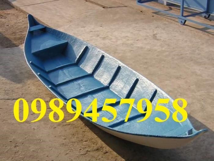 Thuyền ba lá, thuyền composite, thuyền gỗ, Thuyền chèo tay cho 2 người2