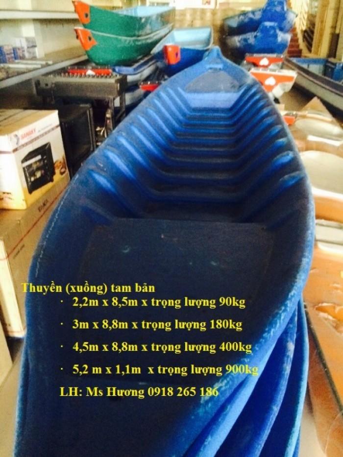 Thuyền ba lá, thuyền composite, thuyền gỗ, Thuyền chèo tay cho 2 người4