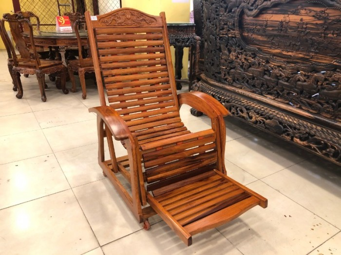 Ghế lười gỗ căm xe7