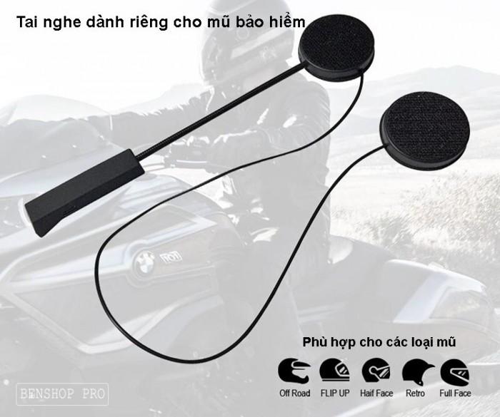Tai nghe Bluetooth gắn mũ bảo hiểm BT84