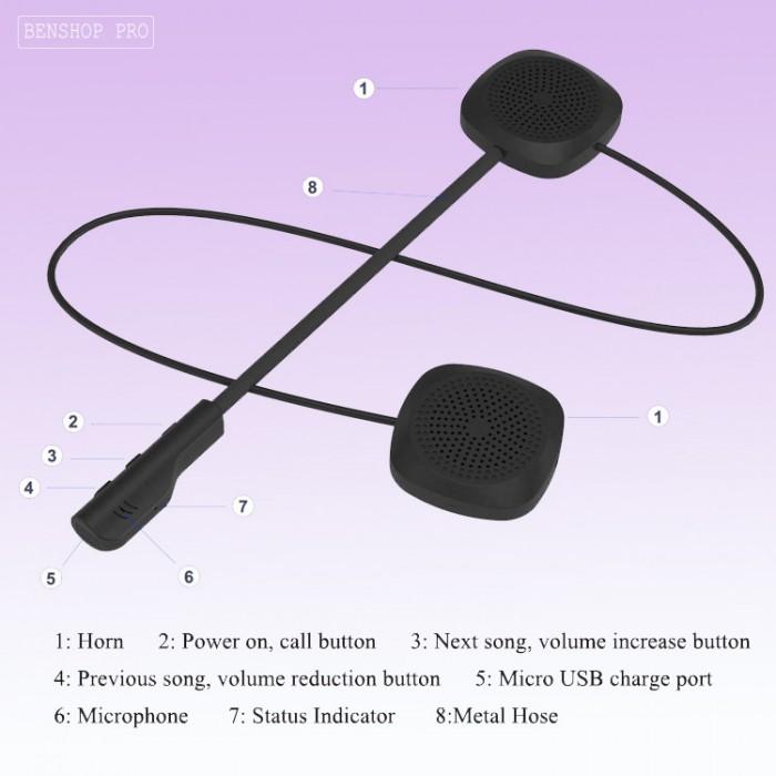 Tai nghe không dây gắn mũ bảo hiểm MH043