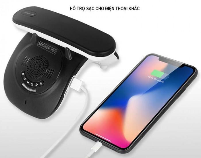 Điện thoại cố định 2 sim, sạc pin cho smartphone, tích hợp loa bluetooth Mafam M305