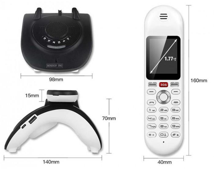 Điện thoại cố định 2 sim, sạc pin cho smartphone, tích hợp loa bluetooth Mafam M306
