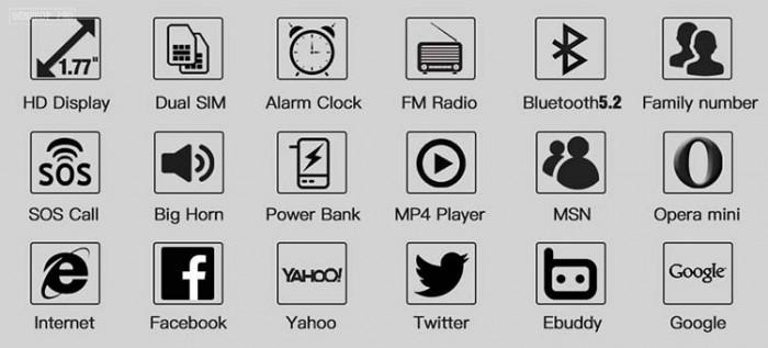 Điện thoại cố định 2 sim, sạc pin cho smartphone, tích hợp loa bluetooth Mafam M302