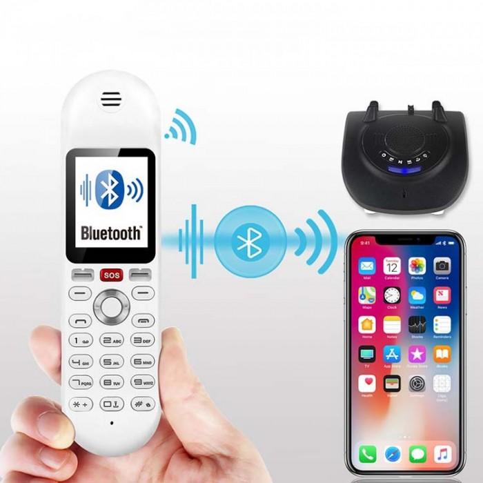 Điện thoại cố định 2 sim, sạc pin cho smartphone, tích hợp loa bluetooth Mafam M3015