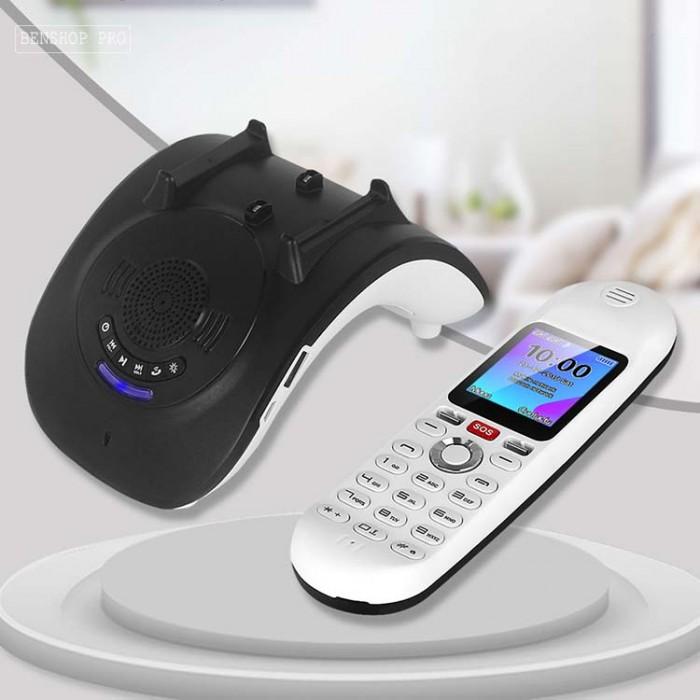 Điện thoại cố định 2 sim, sạc pin cho smartphone, tích hợp loa bluetooth Mafam M3013