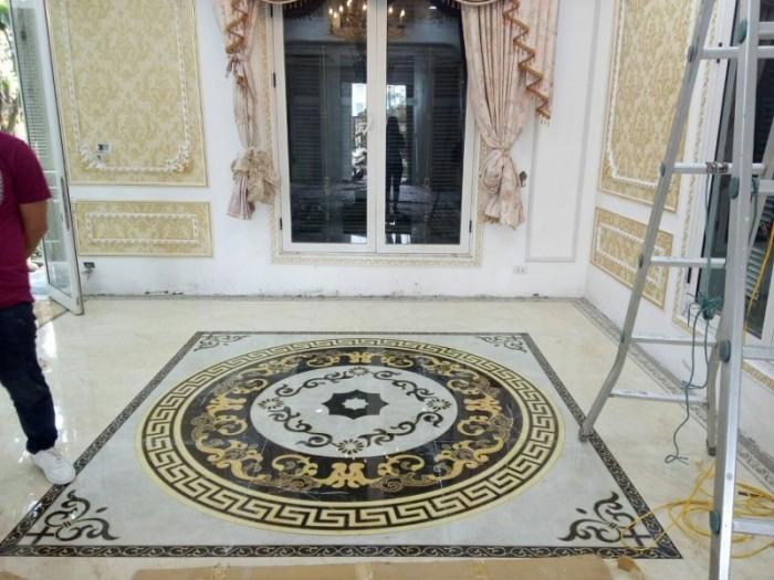 gạch thảm - thảm gạch trang trí phòng khách1
