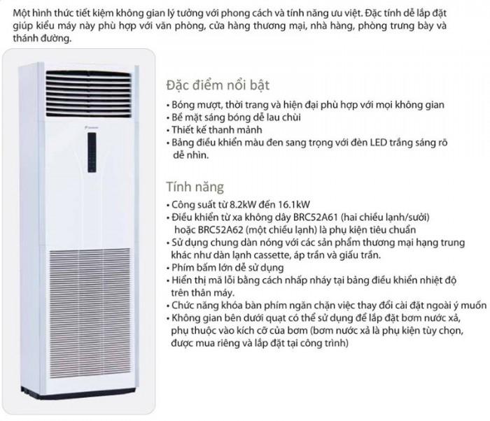 Máy lạnh tủ đứng Daikin dòng tiêu chuẩn- NPP trực tiếp Daikin giá tốt Đại Đông Dương0