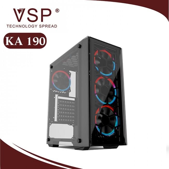 VỏthùngCaseVSP KA 190 Nebula kính cường lực chính hãng (Trắng - Đen)1