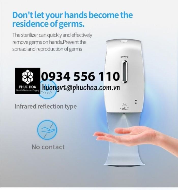 Bình nước rửa tay cảm ứng xịt khử khuẩn di động1