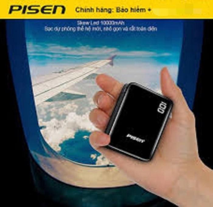 Sạc dự phòng pisen mini D91 lcd báo pin nhỏ gọn 10000mAh3