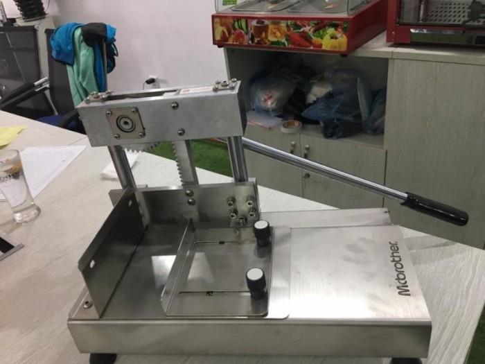 Máy chặt xương chân giò heo, máy cắt xương heo thủ công, máy chặt giò heo2