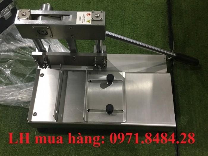 Máy chặt xương chân giò heo, máy cắt xương heo thủ công, máy chặt giò heo3