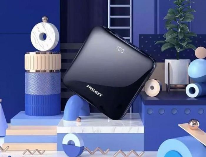 Pin Sạc dự phòng PISEN Mini D92 Mirror 10000mAh có LCD sang trọng1