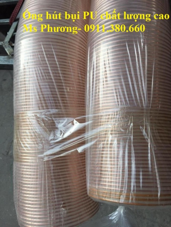 Ống hút bụi PU lõi thép mạ đồng D40, D50,... D400, giao toàn quốc2