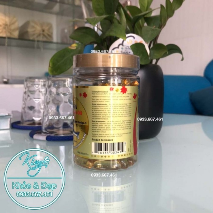 Dầu Cá Hồi Số 1 ALASKA, Deep Sea Fish Oil Omega-3 1000mg (Bill Natural Sources)1