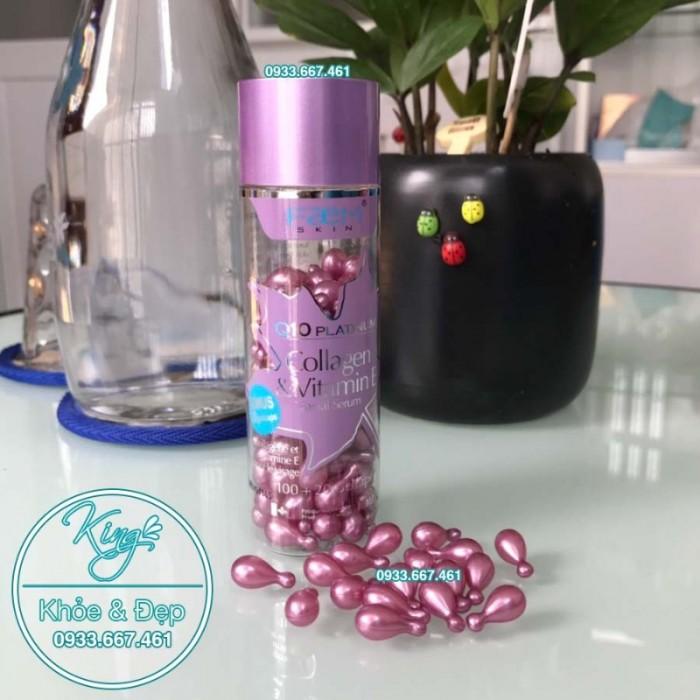 Viên Bôi Q10 Platinum Collagen & Vitamin E Facial Serum 120 Viên1