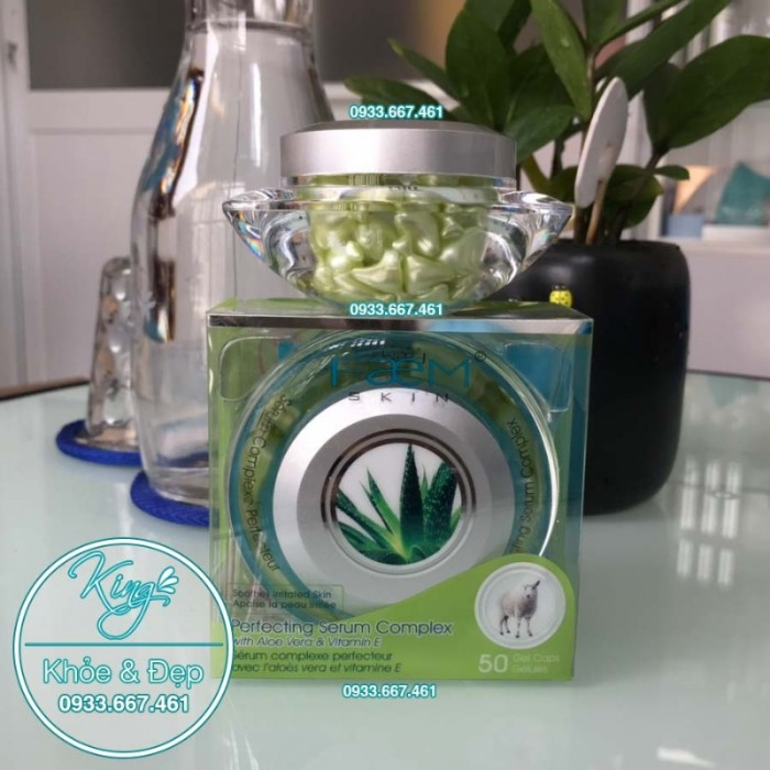 Viên Bôi Nha Đam Dạng Serum 50 Viên (Perfecting Serum Complex With Aloe Vera & Vitamin E)0