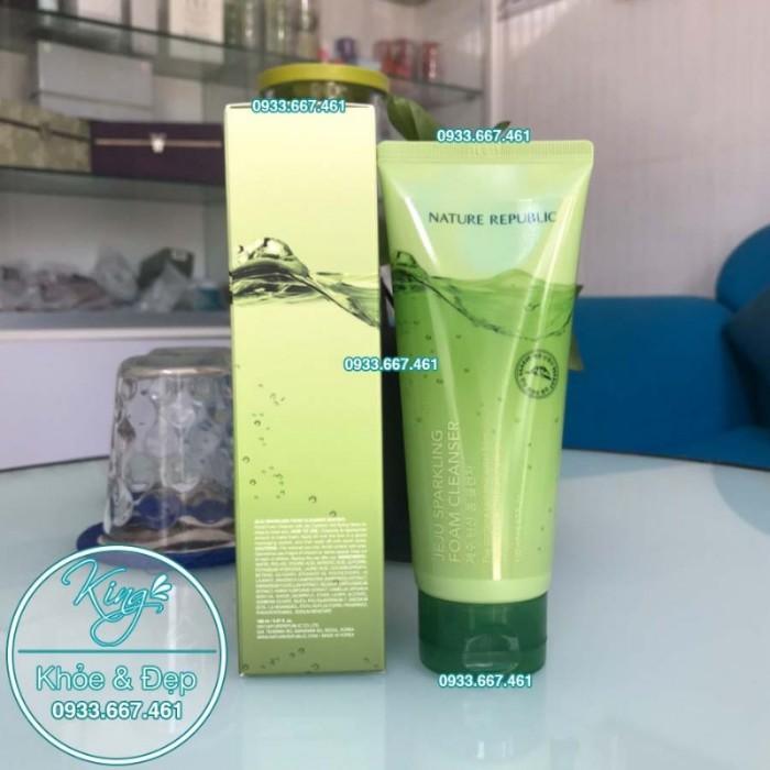 Sửa Rửa Mặt Nature Republic Jeju Sparkling Foam Cleanser3