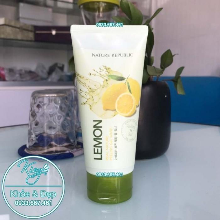 Tẩy Tế Bào Chết Nature Republic Lemon Real Nature Peeling Gel Wash1