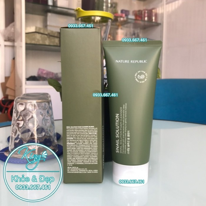 Sửa Rửa Mặt Nature Republic Snail Solution Foam Cleanser2