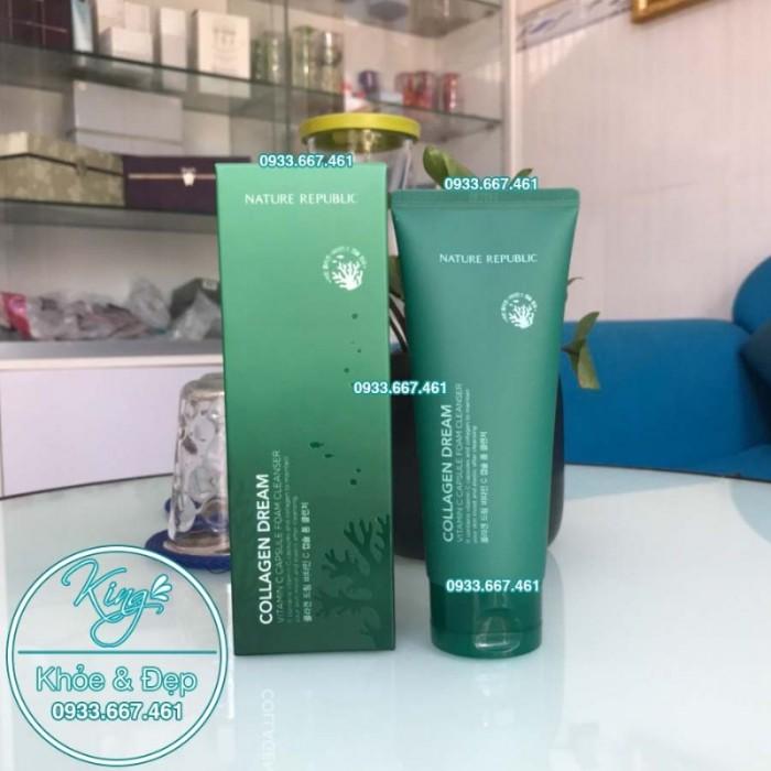 Sửa Rửa Mặt Nature Republic Collagen Dream Vitamin C Capsule Foam Cleanser2