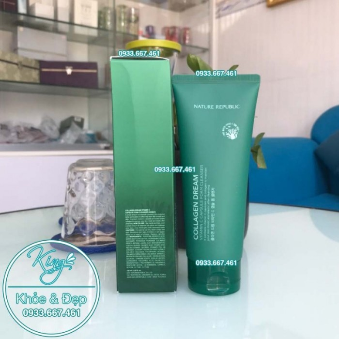 Sửa Rửa Mặt Nature Republic Collagen Dream Vitamin C Capsule Foam Cleanser0