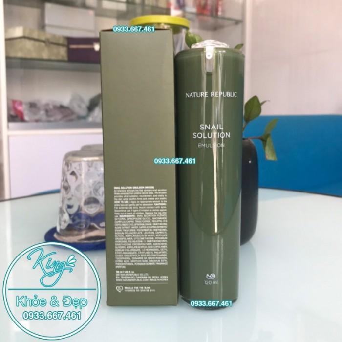 Sữa Dưỡng Nature Republic Snail Solution Emulsion1