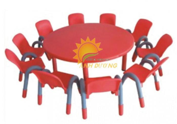 Chuyên cung cấp bàn nhựa mầm non hình tròn dành cho trẻ nhỏ0