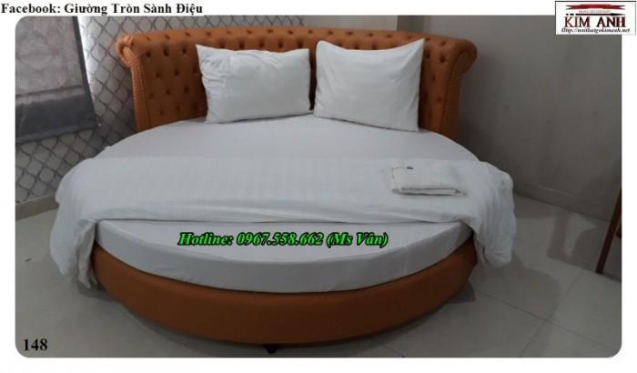 giường tròn bọc nệm đẹp4