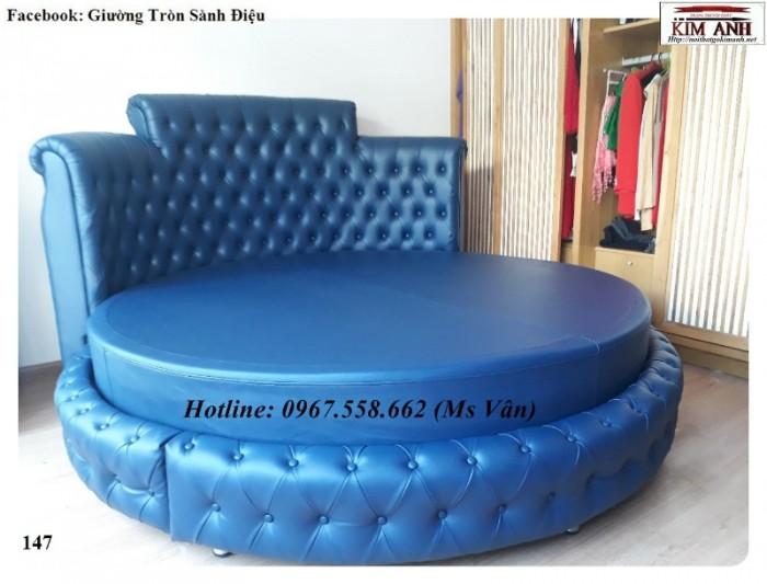 Nơi bán giường ngủ tròn phong cách hiện đại đẹp5