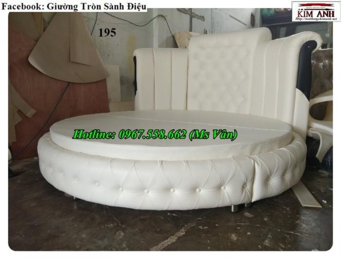giường tròn màu trắng đẹp Cần Thơ Vĩnh Long7