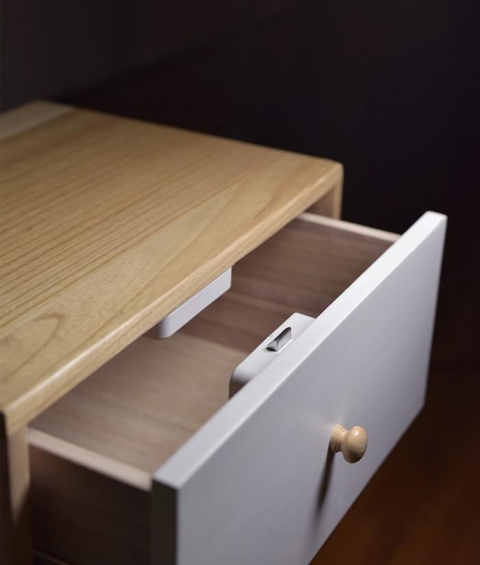 Khóa tủ thông minh Xiaomi YEELOCK Easy lock treasure smart drawer cabinet switch2