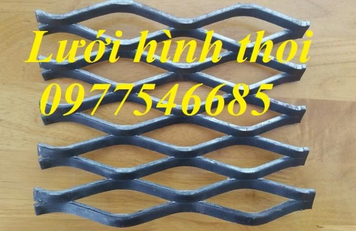 Lưới mắt cáo (lưới thép quả trám, lưới thép hình thoi, lưới thép dập giãn)1