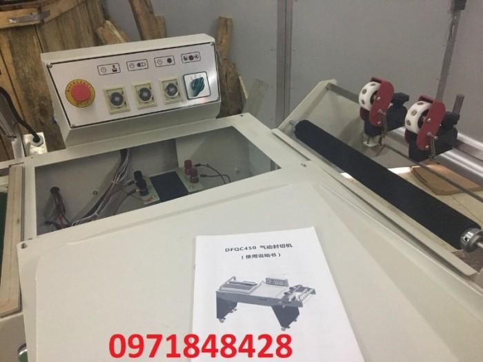 Máy cắt dán màng co FQL450, máy đóng gói màng co, máy cắt dán màng bọc hộp bánh kẹo, gia vị,..1