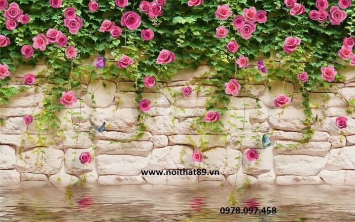 Gạch tranh dàn hoa hồng0
