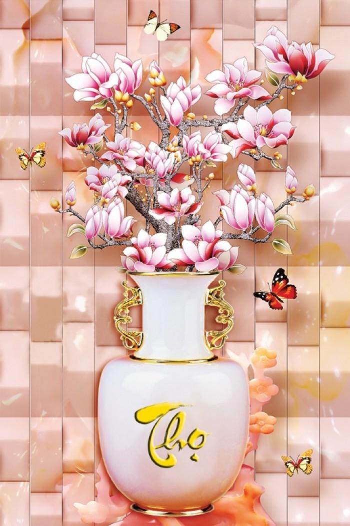tranh gạch men bình hoa đẹp10