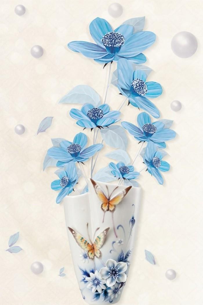 tranh 3d bình hoa đẹp9