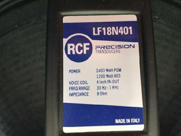 Sub RCF bass 50 neodymium bãi xịn italy4