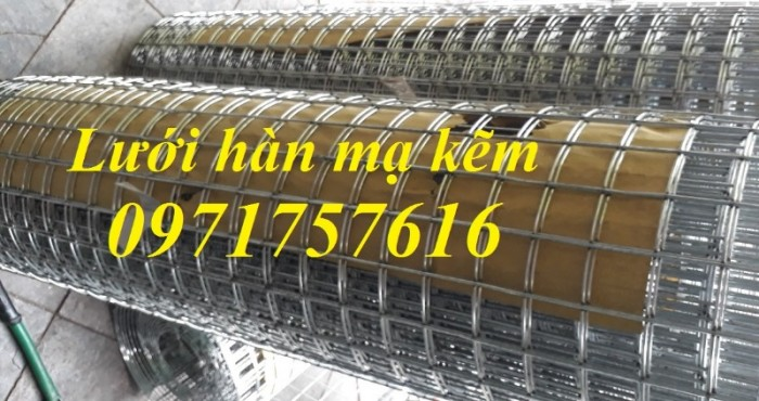 Lưới thép hàn mạ kẽm D3 a( 3030), D3 a(50x50), D4 a(50x50), D4 a(50x100)...tại Hà Nội5