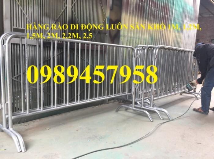 Hàng rào di động inox304, hàng rào di động sơn phản quang có sẵn0