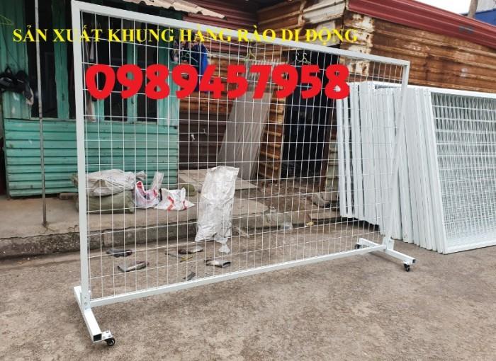 Hàng rào di động inox304, hàng rào di động sơn phản quang có sẵn3