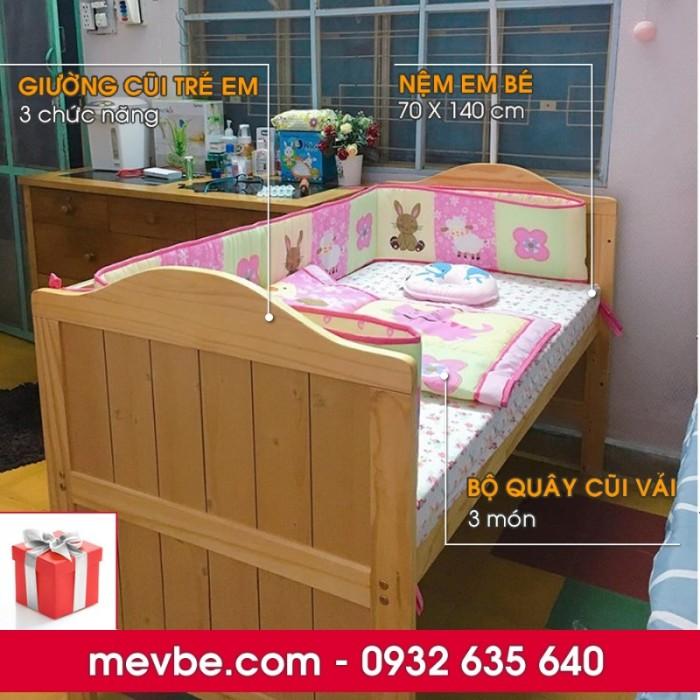 Cũi trẻ em Darling màu tự nhiên gồm 3 chức năng sử dụng như dùng làm cũi em bé từ 0 đến 24 tháng, giường đơn trẻ em từ 18 tháng trở lên và ghế salon khi trẻ lớn 5 - 7 tuổi (tùy theo sự phát triển và thể trạng của từng bé)1
