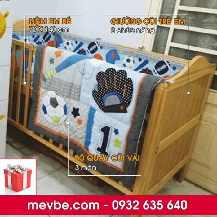 Cũi trẻ em Darling màu tự nhiên gồm 3 chức năng sử dụng như dùng làm cũi em bé từ 0 đến 24 tháng, giường đơn trẻ em từ 18 tháng trở lên và ghế salon khi trẻ lớn 5 - 7 tuổi (tùy theo sự phát triển và thể trạng của từng bé)2