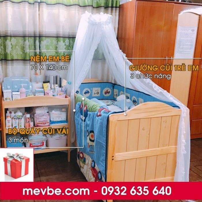 Cũi trẻ em Darling màu tự nhiên gồm 3 chức năng sử dụng như dùng làm cũi em bé từ 0 đến 24 tháng, giường đơn trẻ em từ 18 tháng trở lên và ghế salon khi trẻ lớn 5 - 7 tuổi (tùy theo sự phát triển và thể trạng của từng bé)3